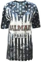Balmain Usa Cotton Jersey T-shirt