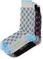 Robert Graham Two-Pair Geometric-Print Sock Set