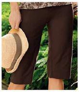 Jockey Womens Textured Crop Pant Career Wear Capri Pants cotton blends