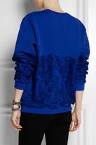 Christopher Kane Lace-paneled cotton-blend jersey sweatshirt