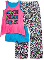 JCPenney Total Girl White Leopard 3-pc. Sleep Set - Girls 4-16