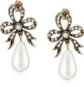 Azaara Crystal and Majorca Simulated Pearl Drop Earrings