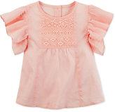 Carter's Flutter Sleeve Cotton Shirt, Little Girls (2-6X) and Big Girls (7-16)