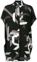 Neil Barrett geometric print shirt dress