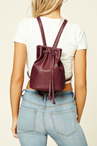 Forever 21 Faux Leather Bucket Backpack