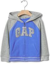 Gap Logo shimmer stripe zip hoodie