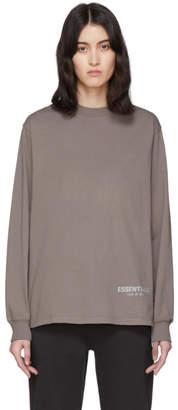 Essentials Grey Mock Neck Long Sleeve T-Shirt