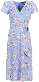 Lauren Ralph Lauren FLORAL PRINT- SHORT SLEEVE-DAY DRESS women's Long Dress in Blue