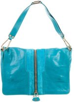 Jimmy Choo Expandable Leather Flap Bag