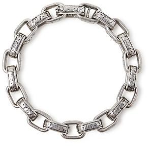 John Varvatos Collection Sterling Silver Artisan Metals Large Link Bracelet