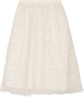 Alice + Olivia Aubreanna faux pearl-embellished tulle skirt