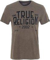 True Religion Men's Blue Collar T-Shirt