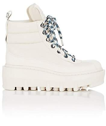 Marc Jacobs Women's Crosby Leather Platform Ankle Boots - White