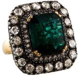 Amrapali Two-Tone Emerald & Diamond Cocktail Ring