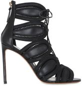 Francesco Russo 105mm Embroidered Leather Lace-Up Boots