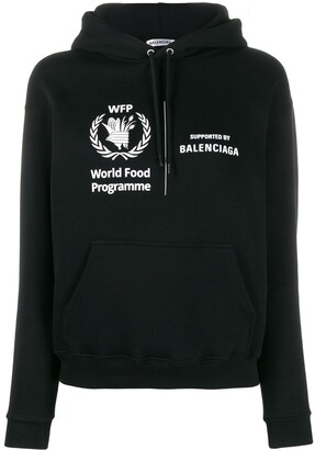 Balenciaga cropped World Food Programme hoodie