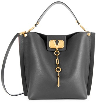 Valentino Garavani VLogo Escape Leather Hobo Bag