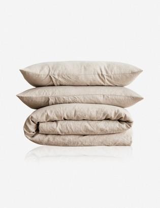 Lulu & Georgia Cultiver Linen Bedding, Natural Duvet Set