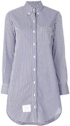 Thom Browne longline striped button-down shirt
