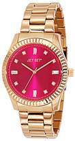 Jet Set J5977R - 832-Cool Women's Quartz Analogue Watch-Red-Steel Bracelet Pink Dial
