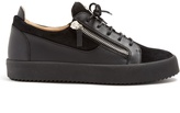 Giuseppe Zanotti Frankie low-top leather and suede trainers