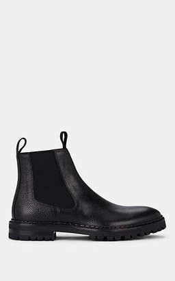Lanvin Men's Pebbled Leather Chelsea Boots - Black