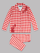 Autograph Pure Cotton Checked Pyjamas (1-16 Years)