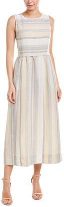 Lafayette 148 New York Betty Linen Maxi Dress