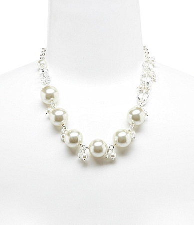 Cezanne Beads & Faux-Pearl Shakey Necklace