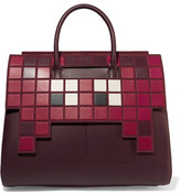 Anya Hindmarch Ephson Suede-trimmed Leather Tote - Burgundy