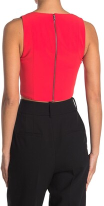 Alice + Olivia Alita V-Neck Crop Top