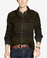 Polo Ralph Lauren Men's Suede-Elbow Plaid Twill Shirt