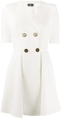 Elisabetta Franchi double-breasted pleated dress