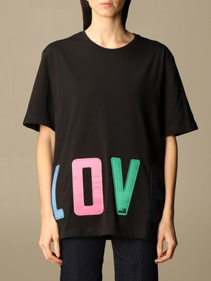 Love Moschino Cotton T-shirt With Big Logo