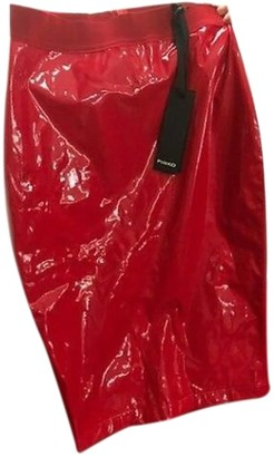 Pinko Red Patent leather Skirt for Women