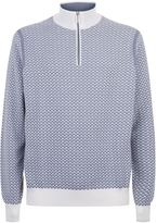 Stefano Ricci Patterned Zip Neck Jumper