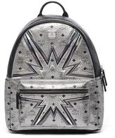 MCM Stark Cyber Flash Medium Backpack, Silver