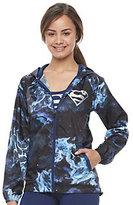 Juniors' Her Universe Superman Galaxy Print Windbreaker Jacket by DC Comics