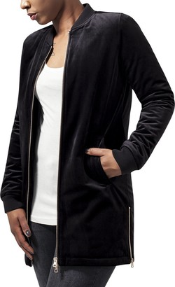 Urban Classics Women's Ladies Long Velvet Jacket