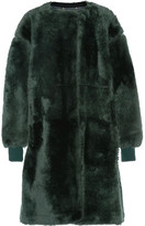 Chloé Shearling Coat - Forest green