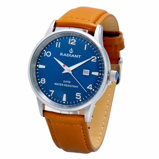 Radiant Mens Analogue Quartz Watch with Leather Strap RA434603