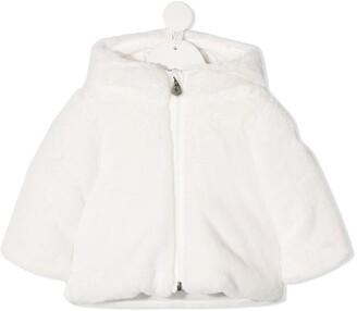 Moncler Enfant Fluffy Feather Down Coat