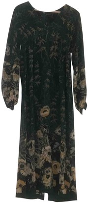 Cacharel Green Silk Dresses