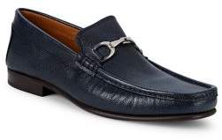 Donald J Pliner Darrin Hardware-Bit Leather Loafers