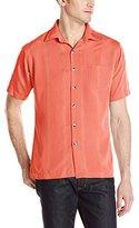 Van Heusen Men's Short-Sleeve Rayon Poly Striped Shirt