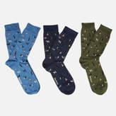 Barbour Men's Dog Motif Socks Gift Box