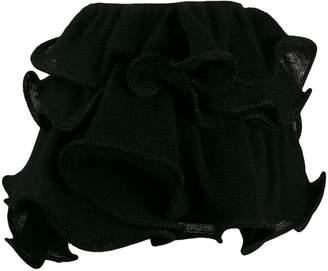Laneus ruffle mini skirt