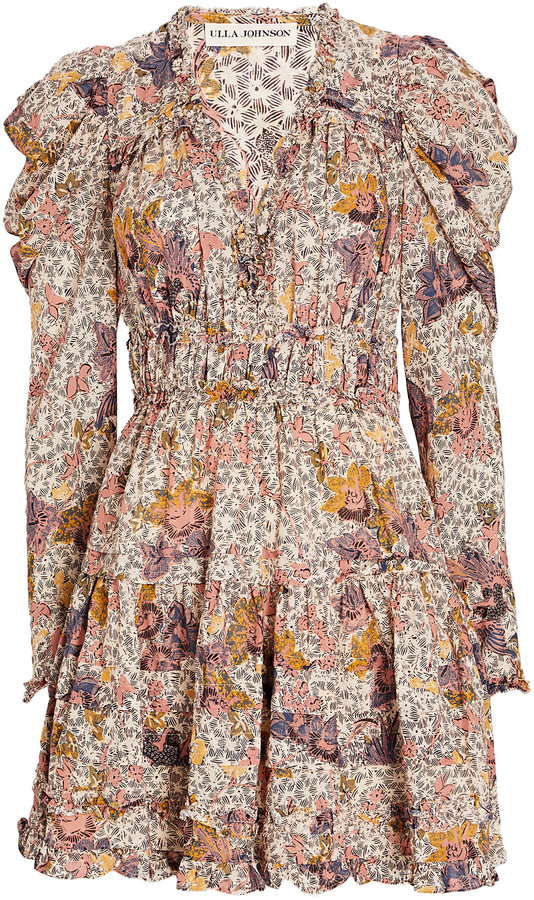 Ulla Johnson Julie Printed Puff Sleeve Dress