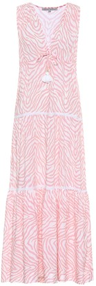 Heidi Klein Cape Town zebra-print maxi dress