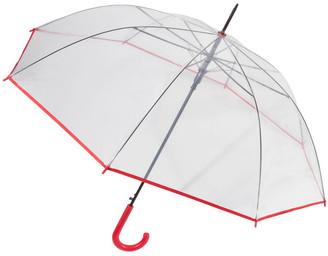 Shelta See-Through Long Auto-Open Coloured Edge And Handle Umbrella